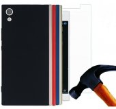 Sony Xperia L1 Silikon Kılıf Premier + Nano Kırılmaz Cam
