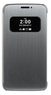 Lg G5 Kılıf Akıllı Pencereli Slim Cover Antrasit Gri