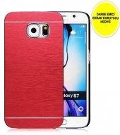Samaung Galaxy S7 Motomo Metal Kılıf Kırmızı Darbe Emici Ekran