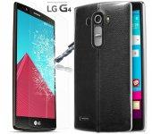 Lg G4 Kılıf 0.2mm Silikon+kırılmaz Ekran Kouyucu Flim