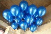 40 Adet Metalik Sedefli Koyu Mavi Balon Doğum Günü Helyumla Uçan