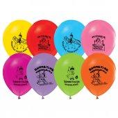 32 Adet Sünnet Baskılı Balonlar Sünnet Düğünü Balon Renkli