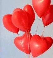 25 Adet Sevgiliye Kalp Balonları Baskısız Ucuz Xxl 30 Cm