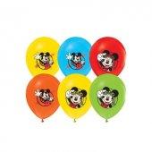 96 Adet Mickey Mouse Baskılı Karışık Balon 12inç Ücretsiz Kargo