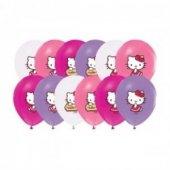 96 Adet Hello Kitty Baskılı Karışık Balon