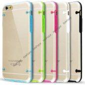 Iphone 6s Hibrit Transparan Kılıf Beyaz