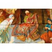 Aker Osmanlı Serisi Pazarda Renk Krem Zemine Kırmızı &amp Mavi Tonları Kgak1 642