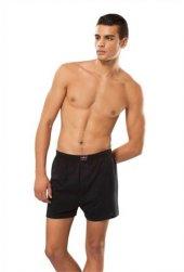 Tutku 3lü Paket Erkek Havlu Bel Düğmeli Boxer Gri