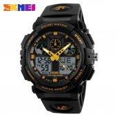 Skmei Ad1270 Analog Digital Erkek Kol Saati (Sarı)