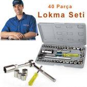 özel Çantalı 40 Parça Cırcırlı Lokma Seti