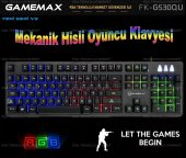 Frisby Gamemax Fk G530qu Kablolu Usb Rgb Işıklı Mekanik Hisli Gaming Oyuncu Klavyesi