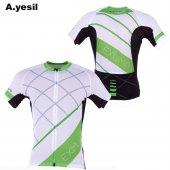 Exuma 161 200 Bisiklet Forma Beyaz Yeşil (S)