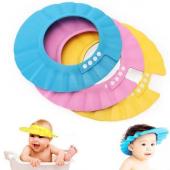 Ayarlanabilir Çıtçıtlı İnce Köpük Bebek Banyo Şapkası