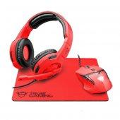 Trust 22471 Spectra Gxt790sr Oyuncu Kulaklık Mouse Mouse Pad,kırmızı