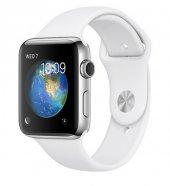 Apple Watch Seri 2, 42mm Paslanmaz Çelik Kasa Beyaz Spor Kordon Mnpr2tu A