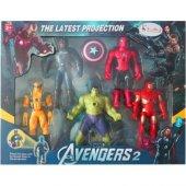 Süper Kahramanlar 5 Li Figür Set Işıklı Projeksiyonlu Avengers
