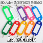 Plastik Anahtarlık Lacivert (50 Adet)