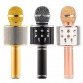 Ws858 Yeni Sihirli Karaoke Bluetooth Mikrofon Kablosuz Aux Sd Kar