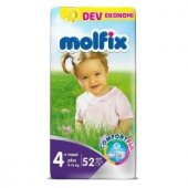 Molfix Bebek Bezi Dev Pk 2li Set No 4+ 9 16kg 104 Adet Maxi Plus