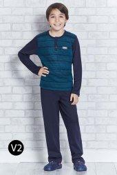 Roly Poly 10 16 Yaş O Yaka Garson Erkek Çocuk Pijama Takımı