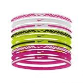 Nike Elastic Haırbands 9pk 2.0 White Vıvıd Pink Volt N.jn.e4.105.os Saç Bandı