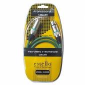 Estello E4004b Yeşil 8m Pvc Kaplama Xlr Xlr Mikrofon Kablosu
