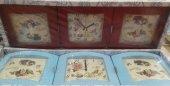 Essen 3 Lü Dekoratif Kalp Duvar Saati 9525