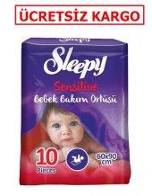 Sleepy Bebek Bakım Örtüsü 60x90 Cm 10 Lu