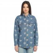 Mickey Kot Bayan Gömlek Ceket