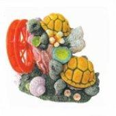 King Akvaryum Süsü Dekoru Çarklı Kaplumbağa
