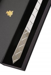 Gümüş Renk Aynalı Pleksi Kravat Plk3665