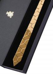 Gold Pleksi Kravat Plk3675