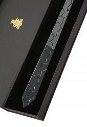 Koyu Gümüş Renk Aynalı Pleksi Kravat 3690