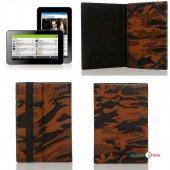 Universal 7 İnç Tablet Kılıfı (Standlı) Askeri Desen Kahverengi