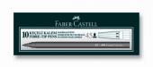 Faber Castel 10 Adet Tek Renk Keçeli Kalem (Siyah) 1027
