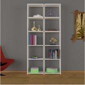 Nur Mobilya Poyraz 2&#039 Li Kitaplık Beyaz