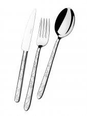 Ews Pladies Çelik 89 Prç Kaşık Seti Siyah Desen