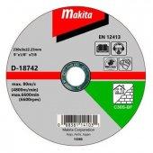 Metal Kesici Taşı Makita D 18742 230mm X 3 X 22.23 � 230mm