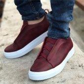 Chekich Bağcıksız Bordo Erkek Ayakkabı