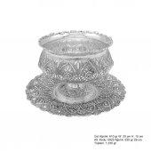 Papatya Desenli Pirmoda Gümüş Boller