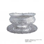 Papatya Desenli Oval Pirmoda Gümüş Boller