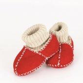 Prado Kuzu Derisi Bebek Patik, Panduf Kırmızı