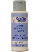 Craftsy Enamel Akrilik Cam Ve Porselen Boyası E 333 Taffy