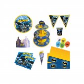 Batman Parti Seti 16 Kişilik Doğum Günü Parti Malzemeleri