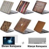 Macbook Pro Retina 13 Kılıf Kapak Wood Rubber