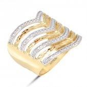 Myra Gold 14 Ayar Altın Elegant Yüzük