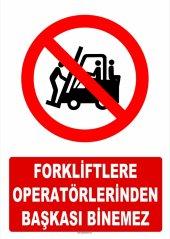 At 1416 Forkliftlere Operatörlerinden Başkası Binemez