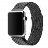 Apple Watch 42 Mm Siyah Mıknatıslı Kayış Kordon Milanese Loop