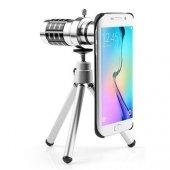 Samsung S6 Edge Birebir Kılıflı 18x Zoom Teleskop Telefon Kamera Lensi