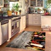 Rugrita 3d Mutfak Deseni Halı